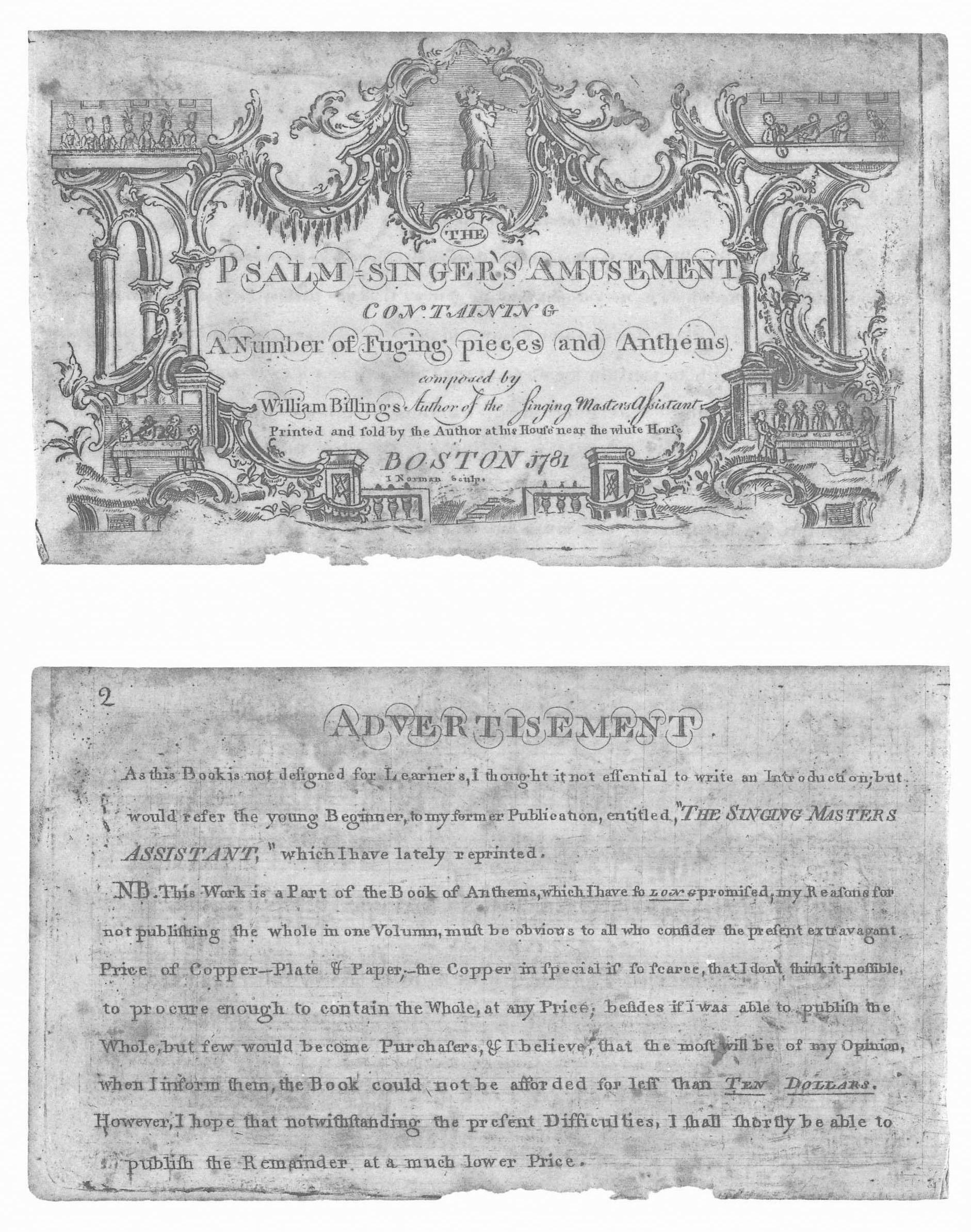 The Psalm-Singer's Amusement - Colonial Society of Massachusetts