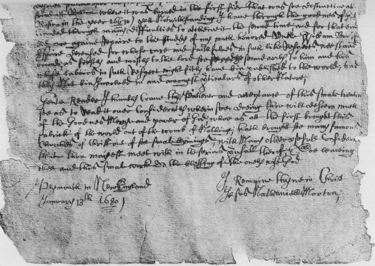 PLYMOUTH CHURCH RECORDS: VOLUME I, Part I - Colonial Society of