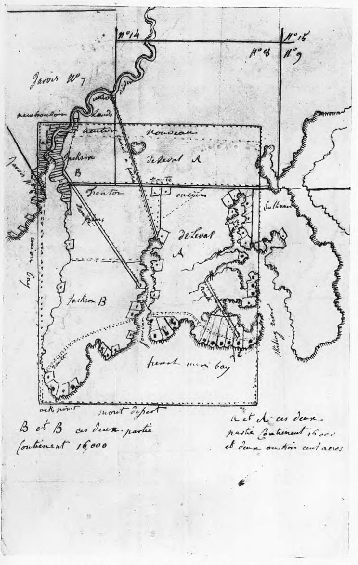 Chapter iv fontaine leval colonial society of massachusetts map of madame de levals holdings in trenton where the headquarters of the french colony were to be geenschuldenfo Choice Image