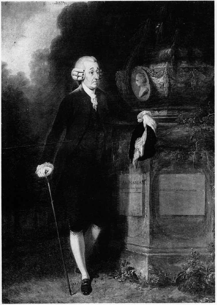 695d88ce Chief Justice Peter Oliver weeping by the grave of his wife; oil portrait  by John Singleton Copley, owned by Mrs. Richard H. Lawrence and Miss  Prudence ...