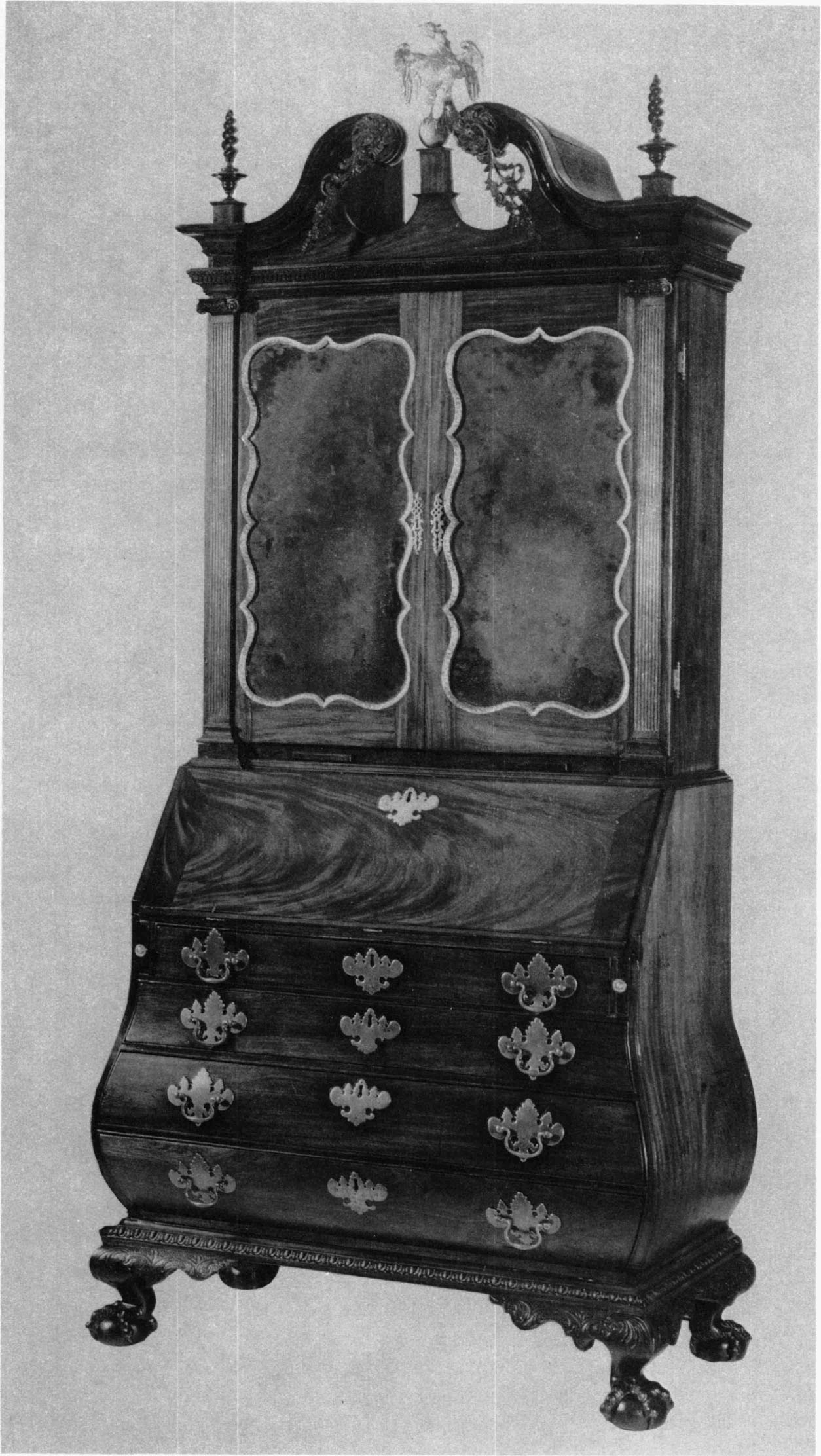the bombé furniture of boston colonial society of massachusetts