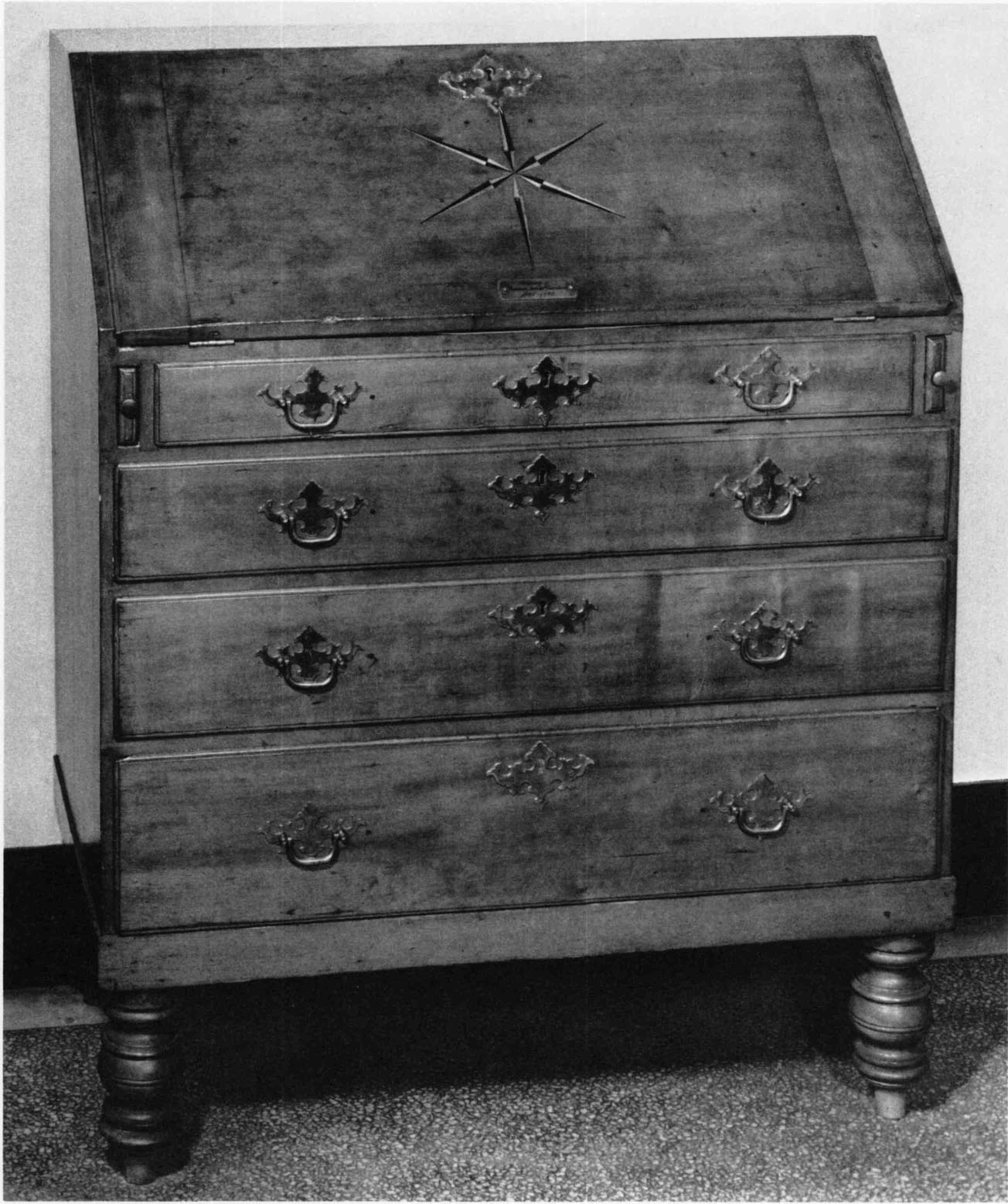 Eastern Massachusetts, C. 1730u20131760. Cherry And White Pine; H. 46½ Inches,  W. 36 Inches, D. 19½ Inches. (American Antiquarian Society: Photo, ...