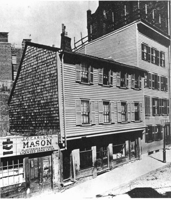 Paul Revere House, North Square, Boston, Mass., Before Restoration. Photo,  Wilfred A. French, C. 1880, Courtesy Society For The Preservation Of New  England ...