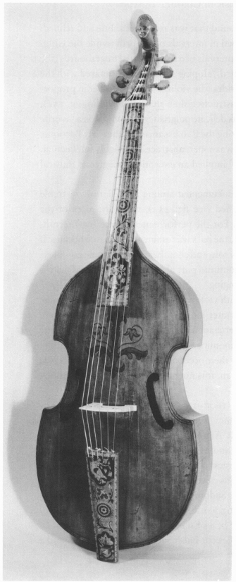 252 Viola Da Gamba Division Size And Detail Of Its Head Richard Meares London 1677