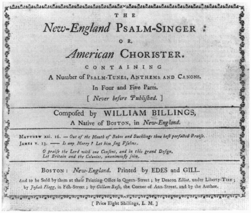Massachusetts Musicians And The Core Repertory Of Early American