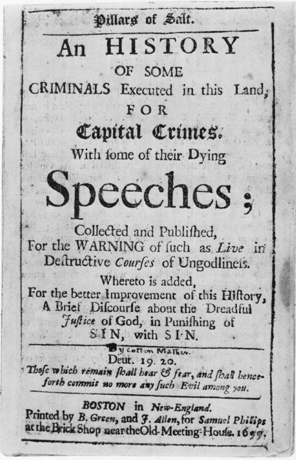 True Confessions and Dying Warnings in Colonial New England