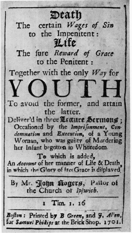 70 John Rogers Death The Certain Wages Of Sin 1701