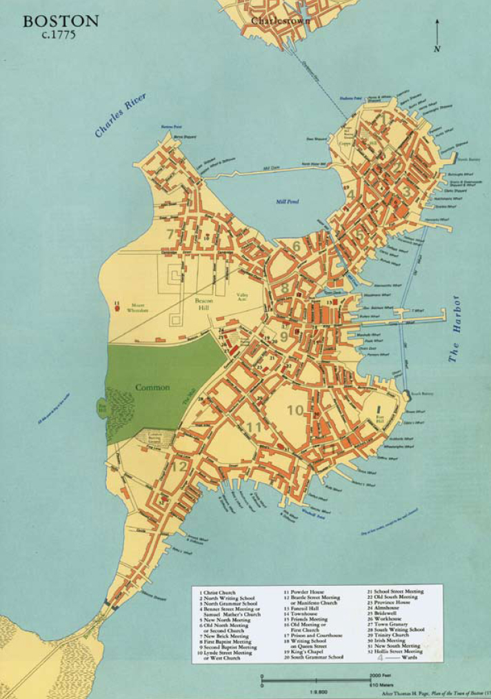 map of colonial boston area Map Of Boston Ward 1777 Colonial Society Of Massachusetts map of colonial boston area
