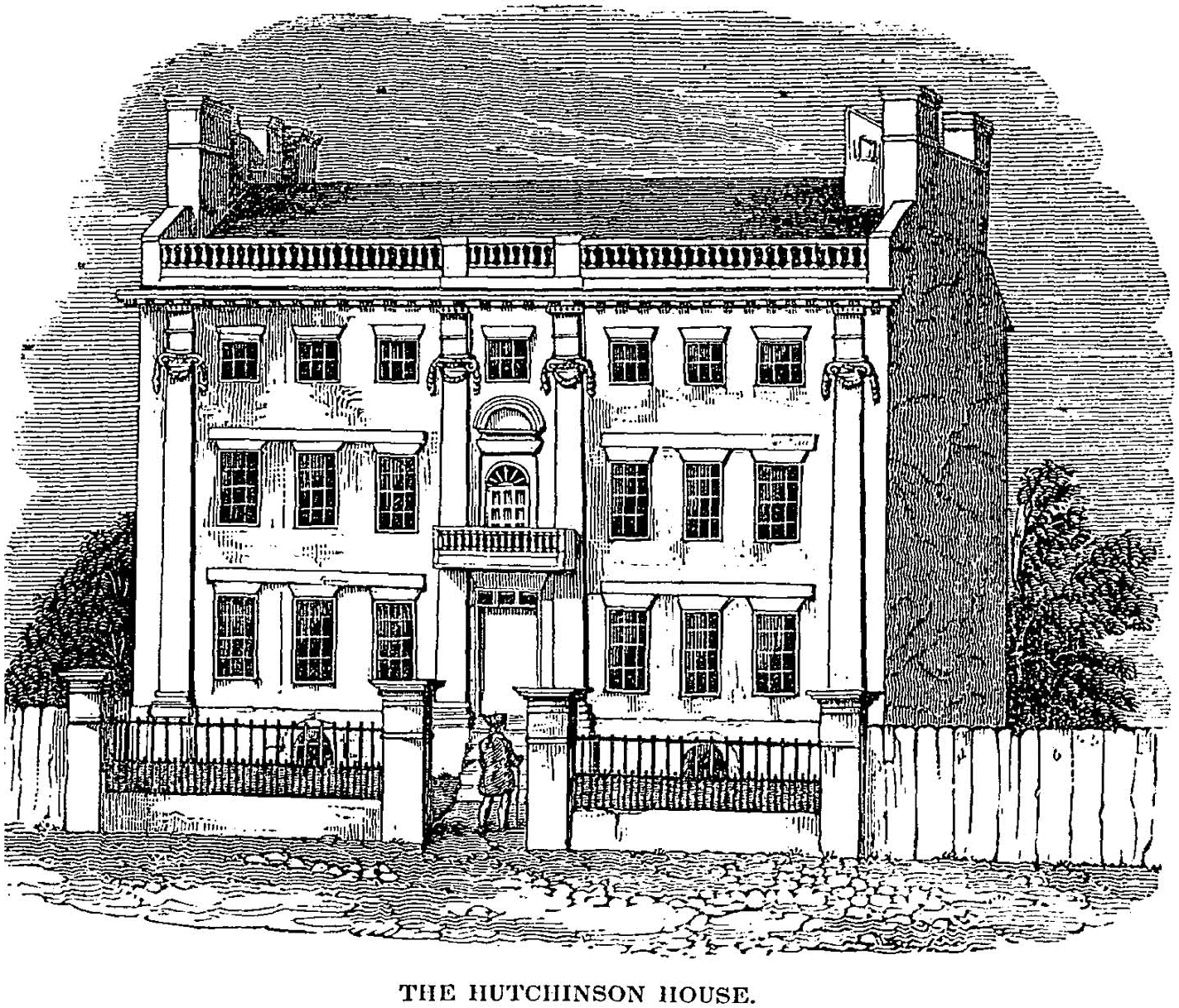 ILLUSTRATION 4 Chief Justice Hutchinsons House In Boston Before It Was Attacked The Stamp Act Riots Of August 26 1765 Originally Built By