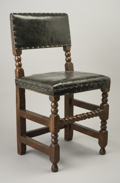 FIG. 6. Side Chair, Boston, 1665u201395. Red Maple, Red Oak; H 36, W 18½, Seat  D 15¼. Winterthur Museum; Gift Of Henry Francis Du Pont (1958.0694).