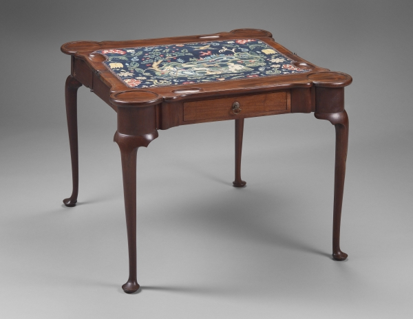 Fig 13 Card Table Boston 1730 50 Mahogany Chestnut White Pine H 27 W 35⅝ D Open 35⅛ Museum Of Fine Arts Purchase With Funds