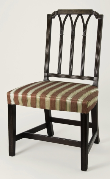 Side Chair, Boston, 1800u20131805. Mahogany, Satinwood, Birch, Maple; H 35¾, W  20½, D 19. Winterthur Museum; Bequest Of Henry Francis Du Pont  (1957.0518.004).