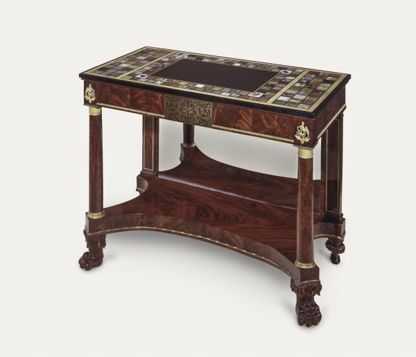 Practical 19th Century Birch Root Inlaid Sewing Side Table Keep You Fit All The Time Furniture Antiques
