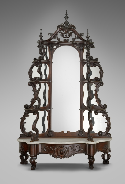 tag re  George Croome  1807 1879   Boston  1861 65  Mahogany  rosewood   black walnut  h 104  w 62   d 20  Museum of Fine Arts  Boston  H  E  Bolles  Fund. Boston Furnituremakers and the New Social Media  1830 1860